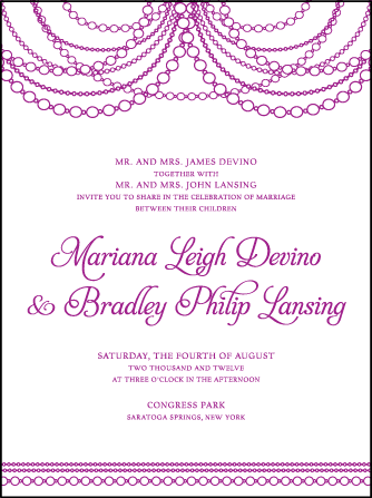 Mariana Vintage Letterpress Invitation Design Medium