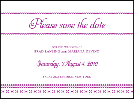 Mariana Vintage Letterpress Save The Date Design Medium