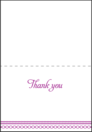 Mariana Vintage Letterpress Thank You Card Fold Design Medium