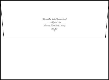 Marie Letterpress Envelope Design Medium