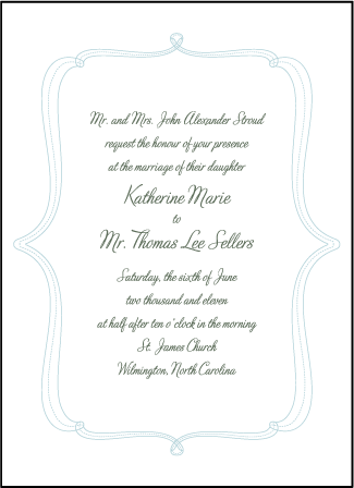 Marie Letterpress Invitation Design Medium