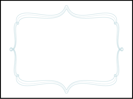 Marie Letterpress Placecard Flat Design Medium