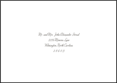Marie Letterpress Reply Envelope Design Medium
