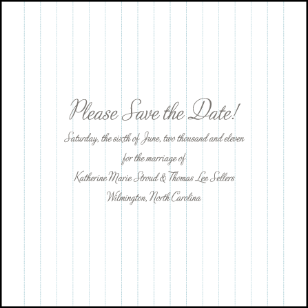 Marie Letterpress Save The Date Design Medium