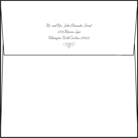Marie Letterpress Thank You Card Flat Envelope Design Medium