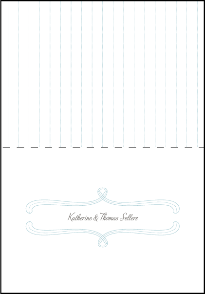 Marie Letterpress Thank You Card Fold Design Medium