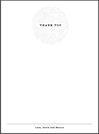 Meadow Letterpress Thank You Card Flat Design Medium
