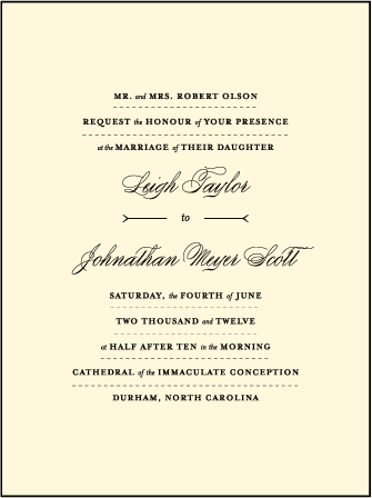Measurement Letterpress Invitation Design Medium
