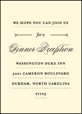 Measurement Letterpress Reception Design Medium