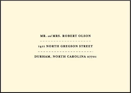 Measurement Letterpress Reply Envelope Design Medium