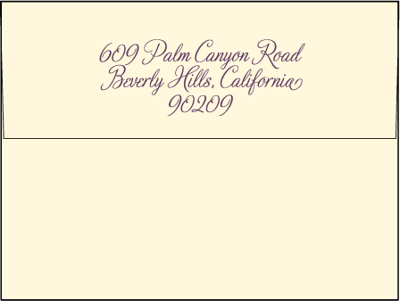 Medley Letterpress Envelope Design Medium