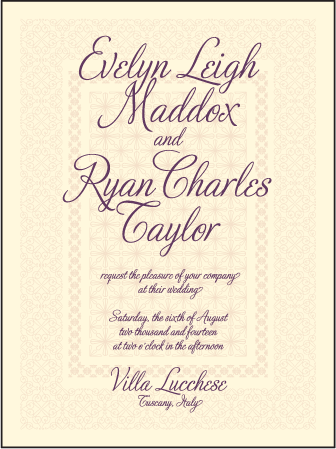 Medley Letterpress Invitation Design Medium