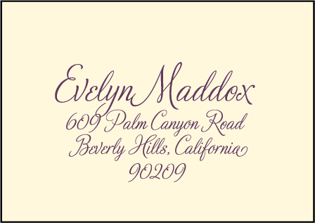 Medley Letterpress Reply Envelope Design Medium
