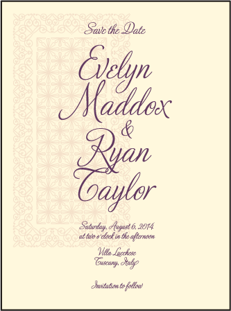 Medley Letterpress Save The Date Design Medium