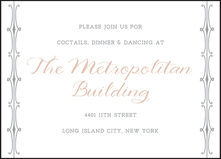 Melodie Frame Letterpress Reception Design Medium