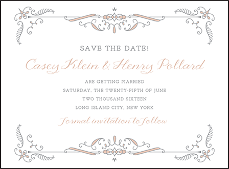 Melodie Frame Letterpress Save The Date Design Medium