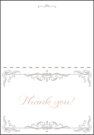 Melodie Frame Letterpress Thank You Card Fold Design Medium