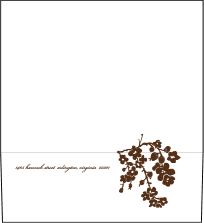 Mimosa Letterpress Envelope Design Medium