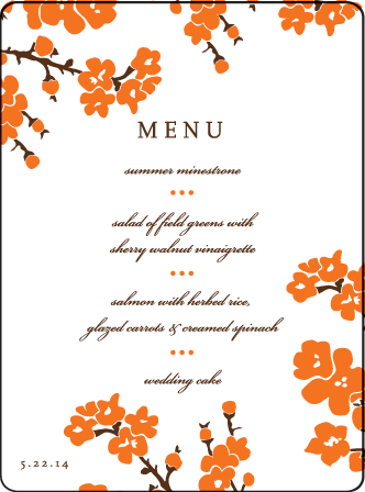 Mimosa Letterpress Menu Design Medium