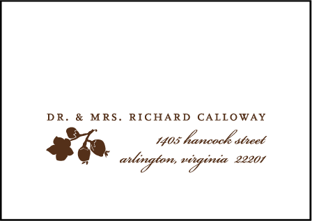 Mimosa Letterpress Reply Envelope Design Medium