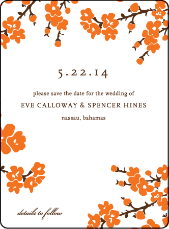 Mimosa Letterpress Save The Date Design Medium