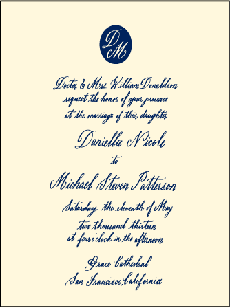 Miranda Letterpress Invitation Design Medium