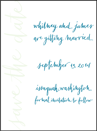 Mitty Calligraphy Letterpress Save The Date Design Medium