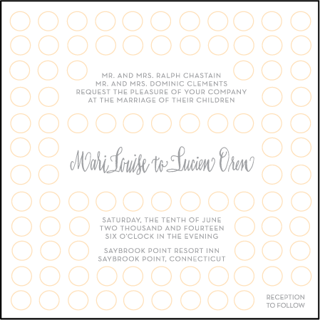 Moda Contemporary Letterpress Invitation Design Medium