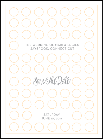Moda Contemporary Letterpress Save The Date Design Medium