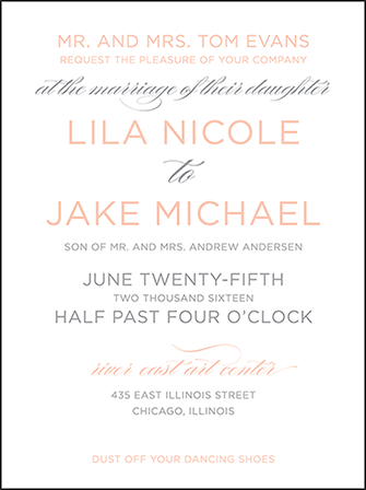 Modern Basel Letterpress Invitation Design Medium