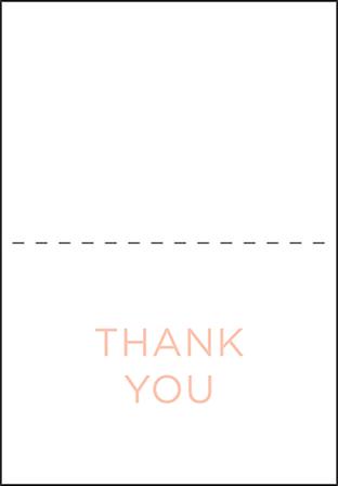 Modern Basel Letterpress Thank You Card Fold Design Medium