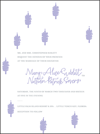Modern Bazaar Letterpress Invitation Design Medium