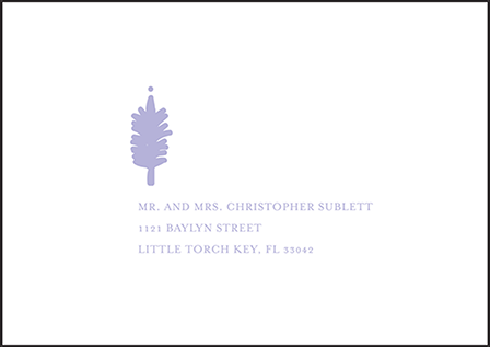 Modern Bazaar Letterpress Reply Envelope Design Medium