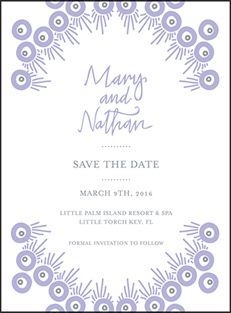 Modern Bazaar Letterpress Save The Date Design Medium