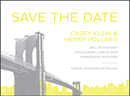 Modern Brooklyn Letterpress Save The Date Design Medium