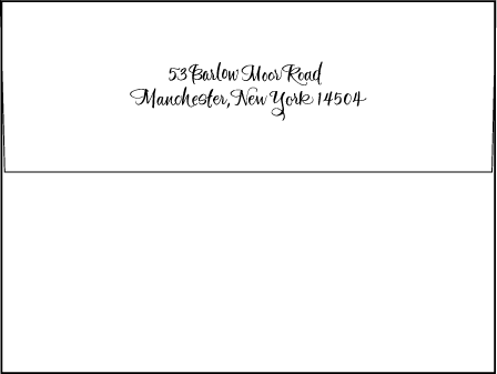Modern Calligraphy Letterpress Envelope Design Medium