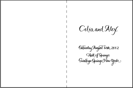 Modern Calligraphy Letterpress Program Design Medium