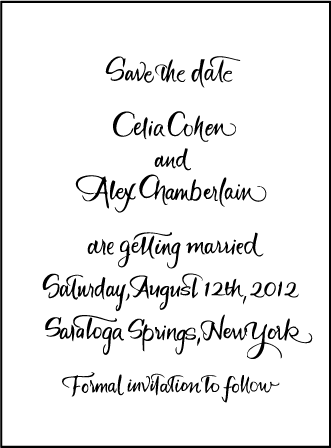 Modern Calligraphy Letterpress Save The Date Design Medium
