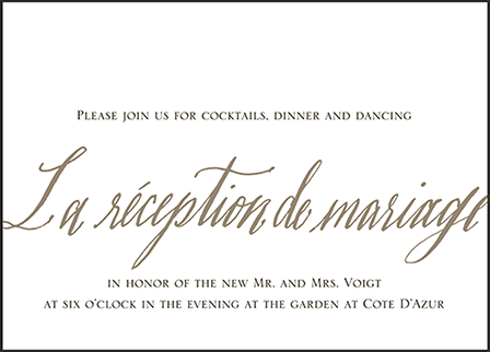 Modern Chateau Letterpress Reception Design Medium