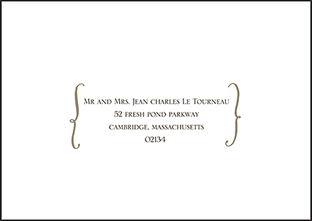Modern Chateau Letterpress Reply Envelope Design Medium