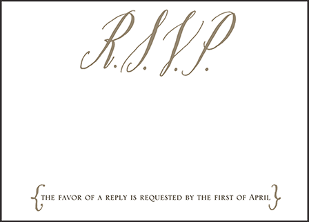 Modern Chateau Letterpress Reply Design Medium