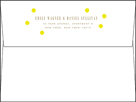Modern Dot Letterpress Envelope Design Medium