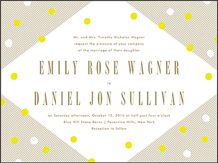 Modern Dot Letterpress Invitation Design Medium