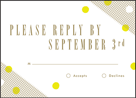 Modern Dot Letterpress Reply Design Medium