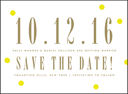 Modern Dot Letterpress Save The Date Design Medium