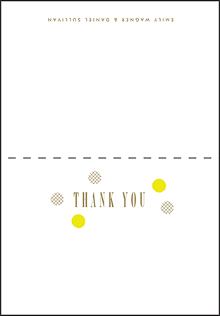 Modern Dot Letterpress Thank You Card Fold Design Medium