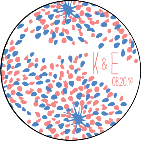 Modern Fete Letterpress Coaster Design Medium