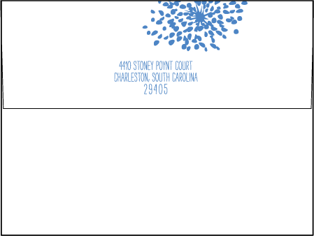 Modern Fete Letterpress Envelope Design Medium