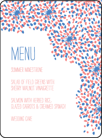 Modern Fete Letterpress Menu Design Medium