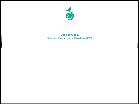 Modern Garden Letterpress Envelope Design Medium